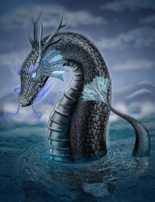 иллюстрация водный дракон