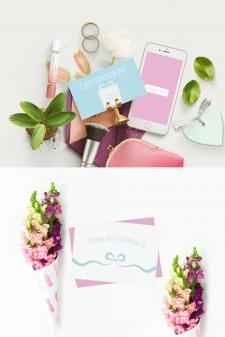 дизайн конверта и  сертификата beauty box