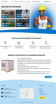 Дизайна сайта для продажи продуктов BISHOFITE