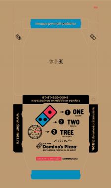 Разработка дизайна упаковки для пиццы Домино