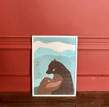 Постер Мишки для детской комнаты