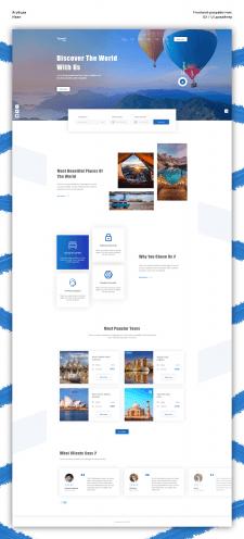 Дизайн главной страницы   Travel.com