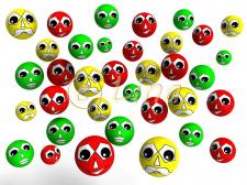 Разноцветные смайлики