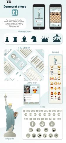 UI/UX Game design Democrat chess