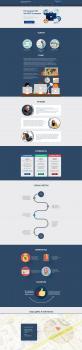 Дизайн Landing Page стиль Flat