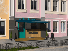 Дизайн и визуализация фасада Coffee House