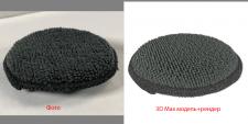 Мини подушка модель и рендер по фото