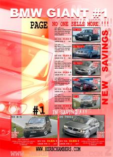 Флаер - авто-салона BMW