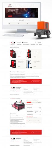 Дизайн сайта сварочного оборудования