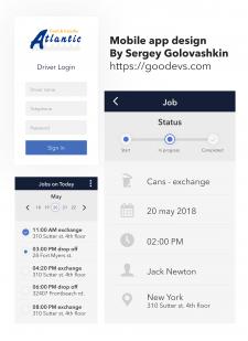 Atlantic - дизайн интерфейса мобильного приложения