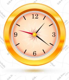 Часы  вектор