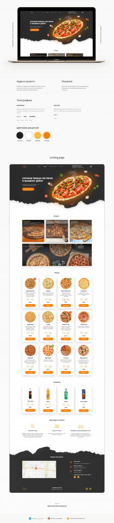 Landing page PizzaHouse