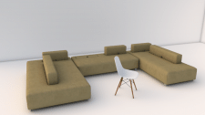 Модель дивана в 3D