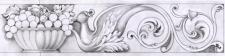 Рисунок резьбы для каминного портала из мрамора