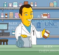 Фармацевт в стиле Симпсонов