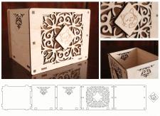 Макет коробочки для лазерной резки по дереву