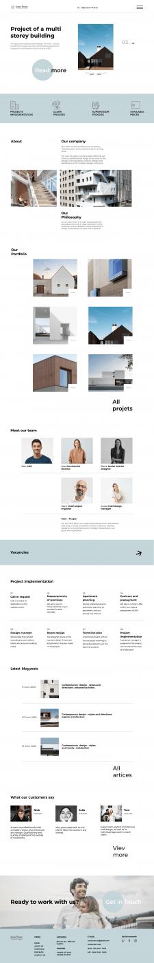 Веб-сайт для архітектурної компанії