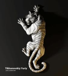 Барельеф тигра, для ювилирки
