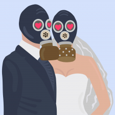 Getting married in gas mask