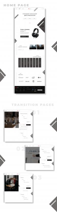 Главная страница сайта. Desktop version 2.0