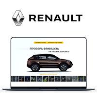 Промо-сайт для Renault Koleos