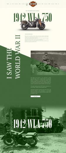 Макет страницы, рассказывающей историю мотоцикла