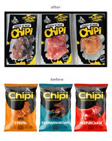 рестайлинг ТМ серии SKU мясных чипсов Dимков