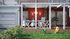 Эскизное предложение террасы для домика в Норвегии