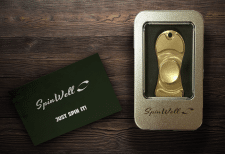 "розробка лого ""spinWell"" і Spinner mock up"