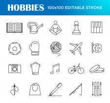 Иконки на тему хобби.