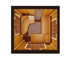 Хамам - дизайн и визуализация  вид сверху