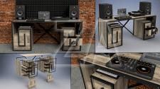 Loft studio desk