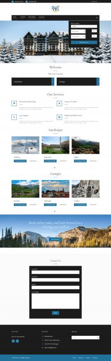 Сайт теристического агенства в Азербайджане и Груз