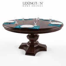 MARACAIBO ROUND DINING TABLE by Lexington set for