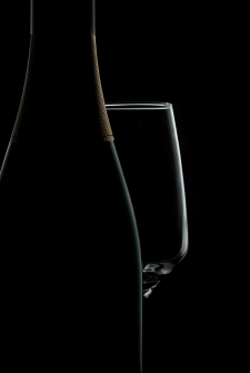 Фотосъемка и ретушь бутылки шампанского