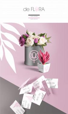 """Логотип/визитки для магазина цветов """"de FLORA"""""""