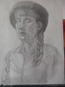 Портрет женщины карандашом