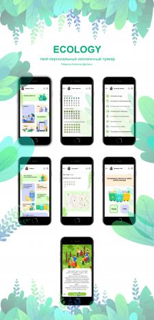 Дизайн мобильного приложения - Ecology