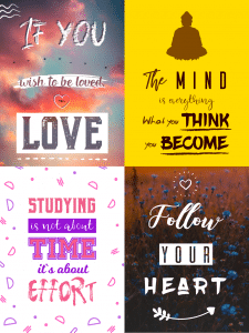 Дизайн картин з цитатами
