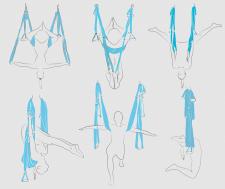 Векторная обрисовка для книги Флай йоги
