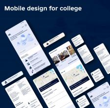 Мобильный дизайн для сайта колледжа