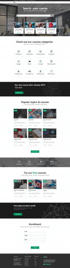 Дизайн сайта курсов