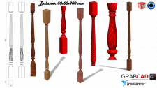 Balusters in SolidWorks/Балясины в SolidWorks