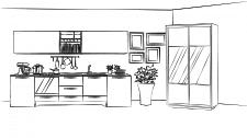 Сцена до анімованого банеру виробника меблів