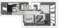 Дизайн-проект 2к. квартиры для молодой семьи