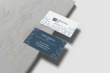 Business card for seafood shop