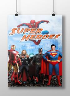 """Постер """"Супер герои"""""""