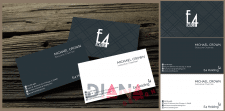 Business card for a E4 Holding