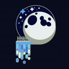 Принт Луна