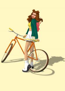 The Sims girl illustartion for cover